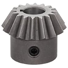 "Boston Gear HL149YP Bevel Gear, 2:1 Ratio, 0.375"" Bore, 16 Pitch, 16 Teeth, Steel"