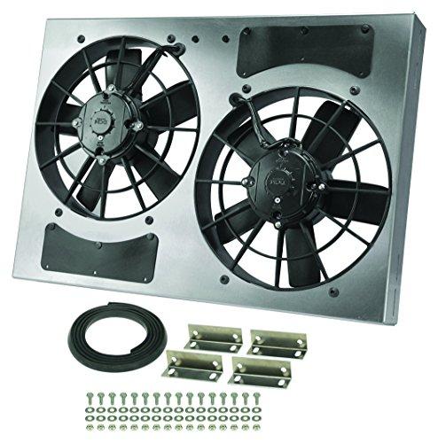 Derale Performance 16837 Gray//Black High Output Dual Radiator Fan