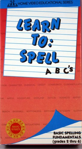 Learn To: Spell [VHS] (Grades 2 thru 6) Picture