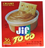 Jif To Go Creamy Peanut Butter (36 cups - 1.5oz each)