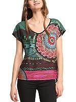Desigual Camiseta Manga Corta SARA (Multicolor)