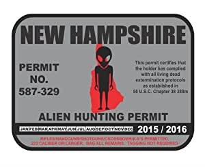 New hampshire alien hunting permit license for New hampshire fishing license