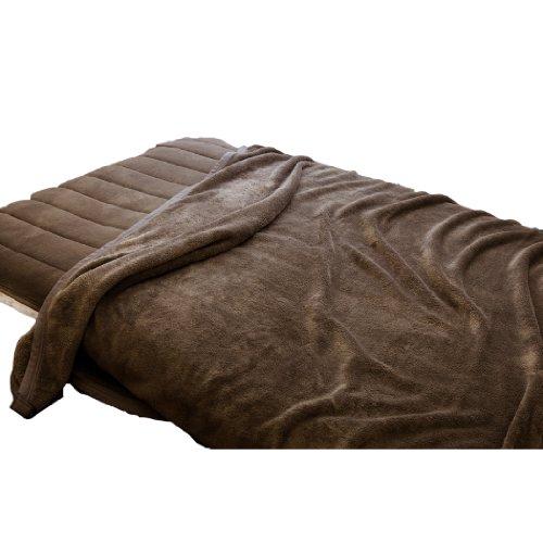 【ふんわりとろける肌触り】 マシュマロタッチ マイクロファイバー毛布 シングル ブラウン 10030106