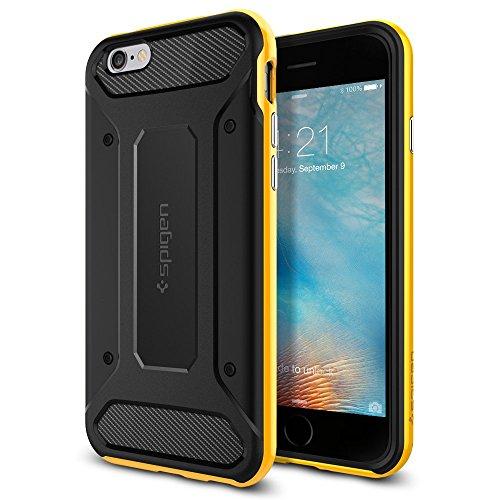 Spigen iPhone6s ケース / iPhone6 ケース, ネオ・ハイブリッド カーボン [ 米軍MIL規格取得 二重構造 TPU カーボンテクスチャー ] アイフォン6s / 6 用 カバー (レベントン・イエロー SGP11622)