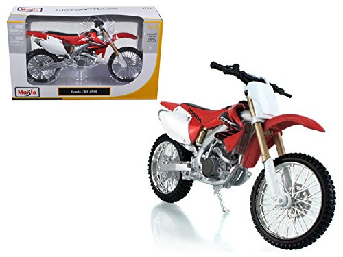 Honda CRF 450R White/Red Motorcycle 1/12 Model by Maisto (Honda Crf 450r Parts compare prices)