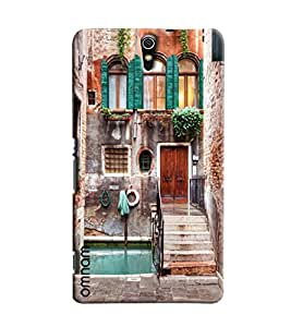 Omnam Vintage Home Printed Designer Back Cover Case For Sony Xperia C5