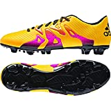 adidas Performance Men's X 15.3 Artificial Turf Soccer Shoe,Gold/Black/Shock Pink,8 M US