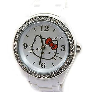 Fancy watch 'Hello Kitty Diamant'white.