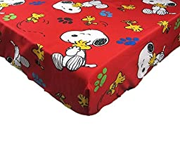 Peanuts Snoopy On The House (FITTED SHEET ONLY) Size TODDLER or CRIB Boys Girls Kids Bedding