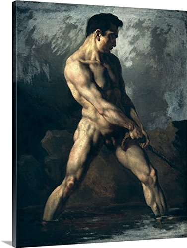 Theodore Gericault Premium Outdoor Canvas Wall Art Print entitled Study of a Male Nude