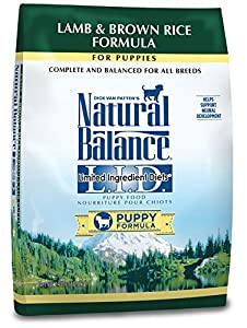 Natural Balance Puppy Formula L.I.D. Limited Ingredient Diets Lamb & Brown Rice Dry Dog Food, 24-Pound