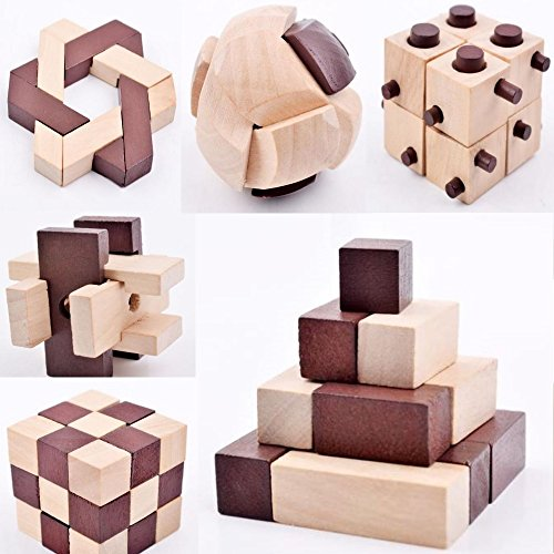 b julian iq puzzle 3d holzpuzzle set 10 knobelspiele f r erwachsene kinder geduldspiele. Black Bedroom Furniture Sets. Home Design Ideas
