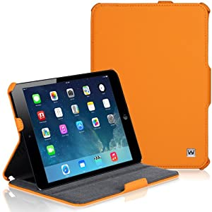 CaseCrown Ace Flip Case (Orange) for Apple iPad mini 7.9 Inch Tablet (Built-in magnet for sleep / wake feature)