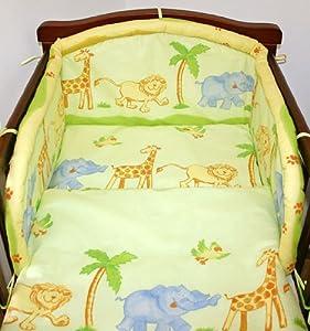 Safari 6 pieces bedding set Cot (60cm x 120cm)