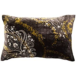 "Product Image Embroidered Paisley Pillow - Brown (13x20"")"