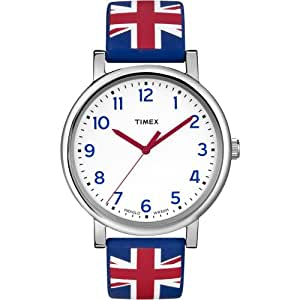 Timex Unisex Quartz Watch with White Dial Analogue Display and Multicolour Resin Strap T2N798PF