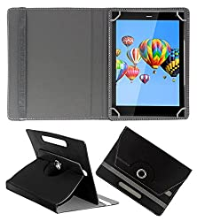 ACM ROTATING 360° LEATHER FLIP CASE FOR DIGIFLIP PRO XT811 TABLET STAND COVER HOLDER BLACK