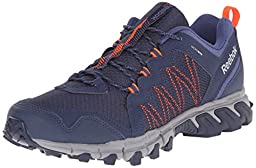 Reebok Men\'s Trailgrip RS 4.0 Outdoor Shoe, Collegiate Navy/Tin Grey/Midnight Blue/Atomic Red, 9.5 M US