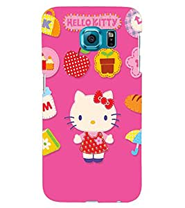 TOUCHNER (TN) Kitty Back Case Cover for Samsung Galaxy S6::Samsung Galaxy S6 G920