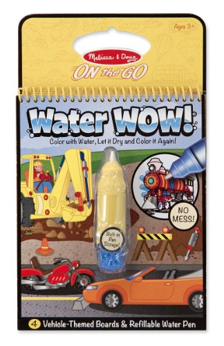 Melissa & Doug Water Wow Coloring Book - Vehicles front-367302