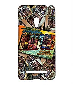 Block Print Company Deadpool Postcard Phone Cover for Asus Zenfone 5