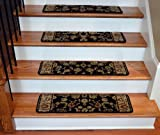 Dean Premium Carpet Stair Treads - Elegant Keshan Ebony 31