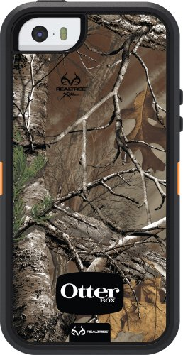Special Sale OtterBox Defender Series Case for iPhone 5S - Retail Packaging - Realtree Camo - Xtra Orange