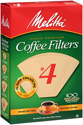 Melitta Cone Coffee Filters, Natural Brown, No. 4, 100-Count Filters (Pack of 6) (Commercial Size Coffee Maker compare prices)