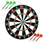 chinkyboo DARTBOARD DART BOARD WITH 6...