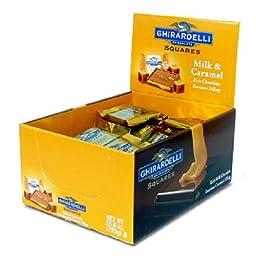 GHIRARDELLI MILK CHOCOLATE CARAMEL 0.53 oz Each ( 50 in a Pack )