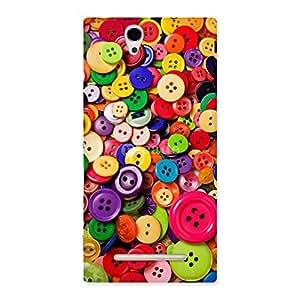 AJAYENTERPRISES W Bottan Colorfull Back Case Cover for Sony Xperia C3
