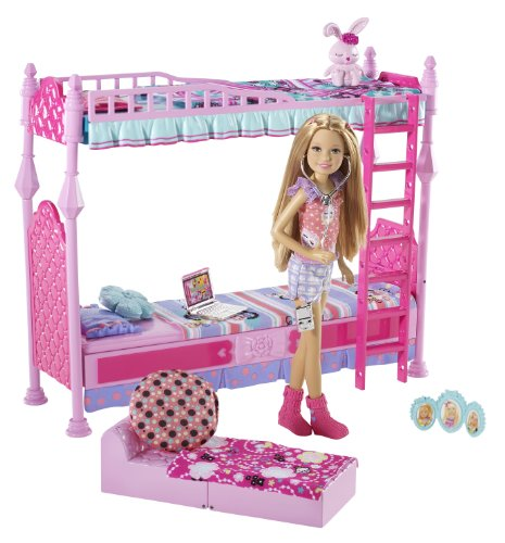 51vcwTJXEIL Cheap Buy  Barbie Sisters Sleeptime Bedroom and Stacie Doll Set