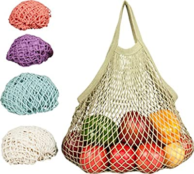 ECOBAGS Reusable Pastel Grocery Bags - 5 ct