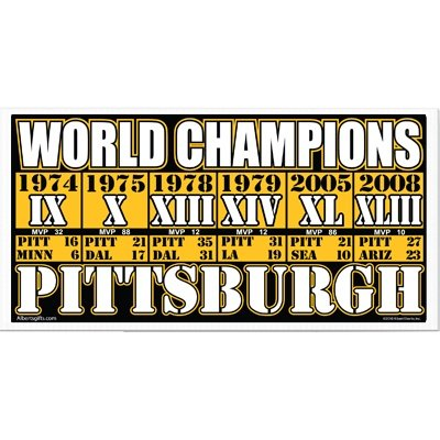 Pittsburgh Steelers World Champs Yard Sign W/ Dates (12 X 24) from Gift House