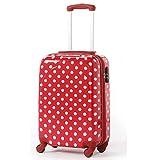 アウトレット スーツケース 機内持ち込み 小型 Sサイズ 超軽量 ドット 水玉 かわいい キャリーバッグ