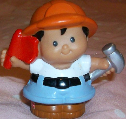 Fisher Price Little People Michael Construction Worker Replacement Figure Doll Toy