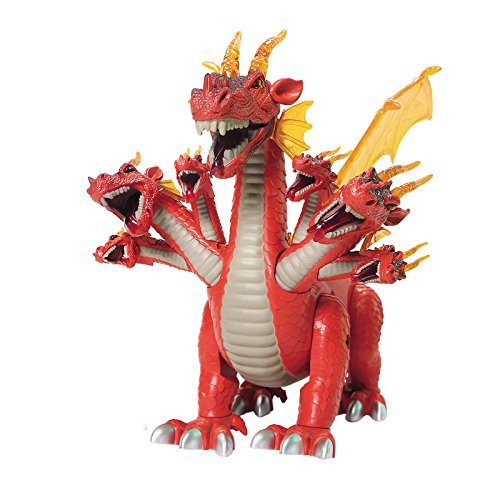 Mokasi Walking Seven Headed Dragon Toy Realistic Sounds and Fun Lights Action Figures (Red) (Seven Headed Dragon compare prices)