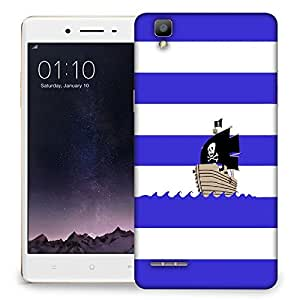 Snoogg Pirates Boat Designer Protective Back Case Cover For OPPO F1