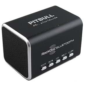 VisionTek Pitbull RockDoc Bluetooth 2-Way Portable Speaker - Black 900586