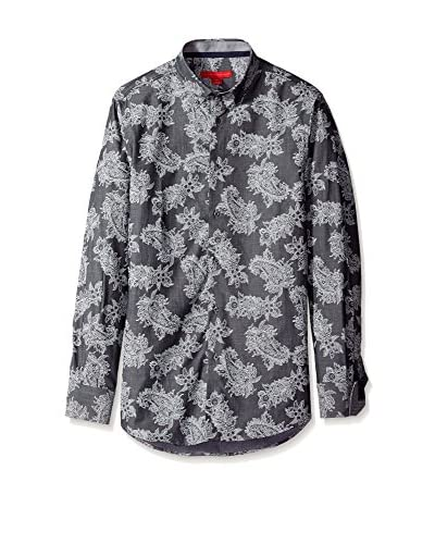 Report Collection Men's Paisley Print Long Sleeve