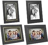 Cardboard Picture Frames 4x5 Black w/Black Foil Border (25 Pack)