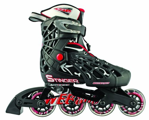Roller Derby Web Stinger Adjustable Boy's Inline Skates, Medium (2-5)