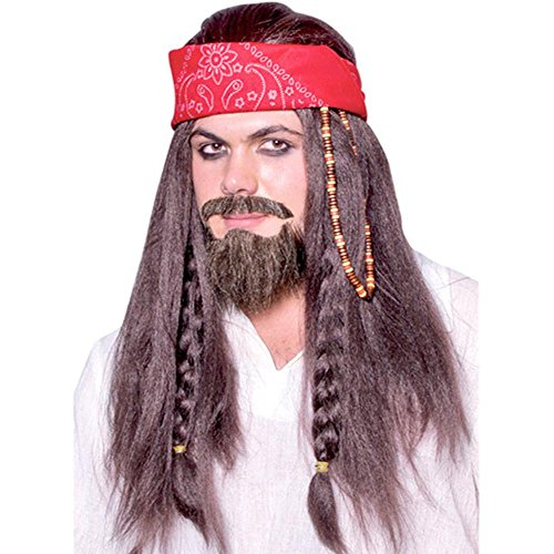 Adult Jack Sparrow Costume Wig