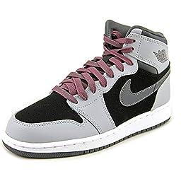 Jordan Jordan Retro 1 High Youth US 5.5 Gray Sneakers