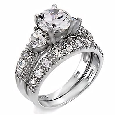 Fire And Ice Wedding Ring