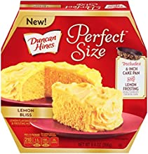 Duncan Hines Perfect Size Mix Lemon Bliss Cake Mix with Frosting 94oz Box Pack of 2