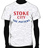 Stoke City Basic Logo Soccer Tee, Adult XX-Large - Ash Grey