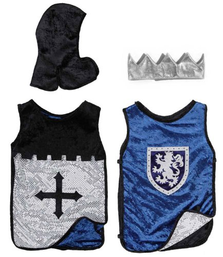 Reversible Black & Blue King Knight Set