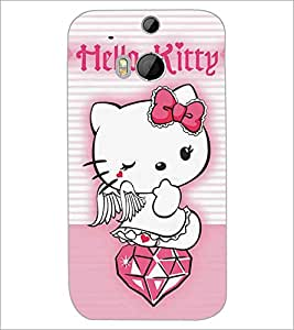 HTC ONE M8 HELLO KITTY Designer Back Cover Case By PRINTSWAG