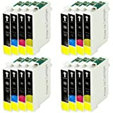 16 Compatible Printer Ink Cartridges for Epson Stylus SX515W ALL-IN-ONE - Cyan / Magenta / Yellow / Black